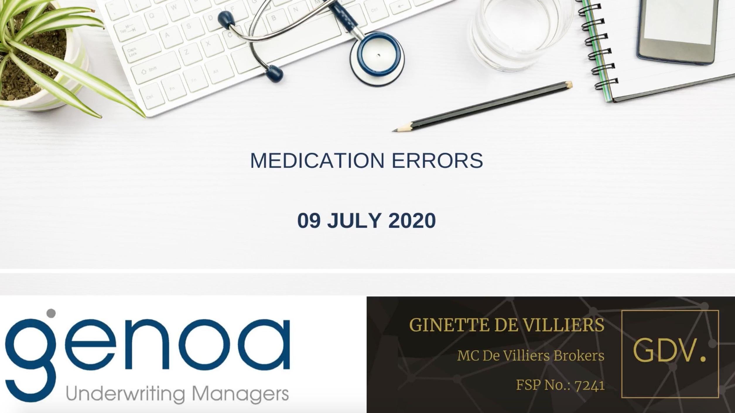 Online Session: Medication Errors