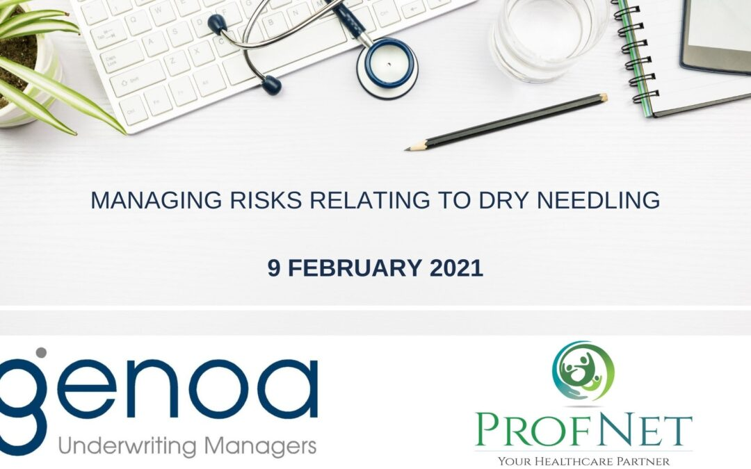 Online Sessions: Managing Risks Relating to Dry Needling