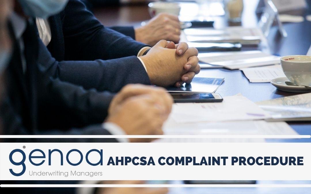 AHPCSA Complaint Procedure